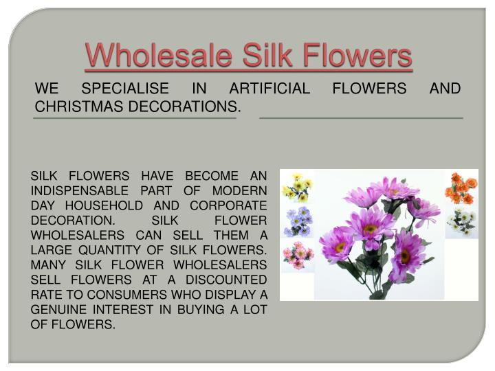Wholesale silk flowers