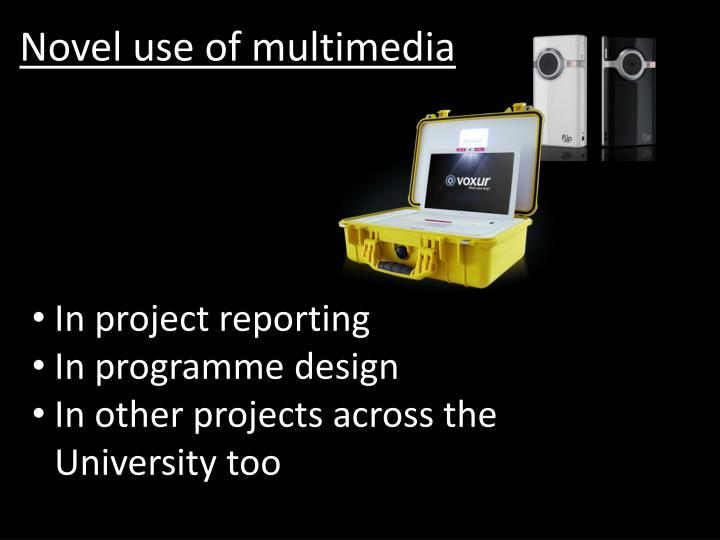 Novel use of multimedia