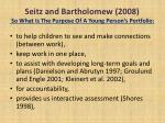 seitz and bartholomew 2008 so what is the purpose of a young person s portfolio1