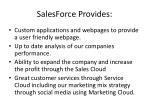 salesforce provides