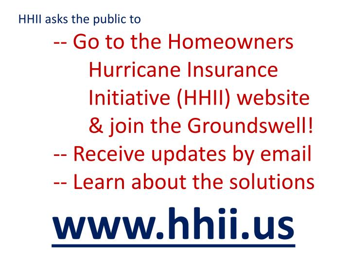 HHII asks the public to