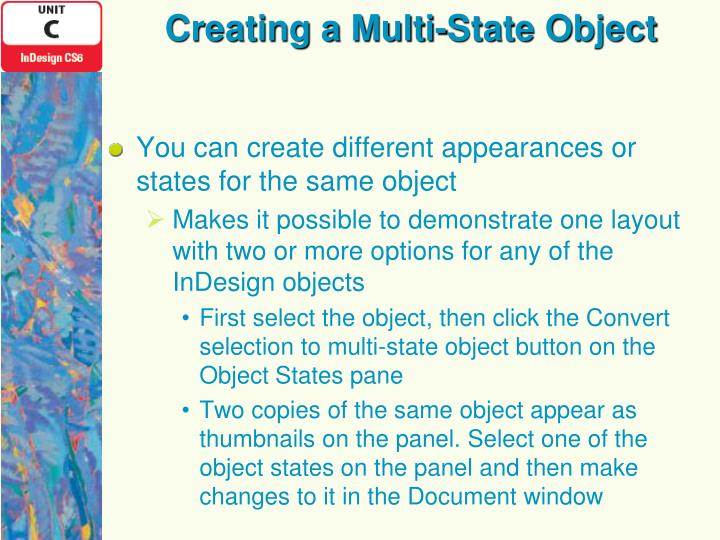 Creating a Multi-State Object
