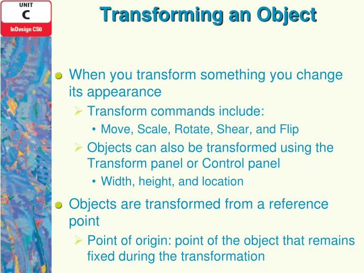 Transforming an Object