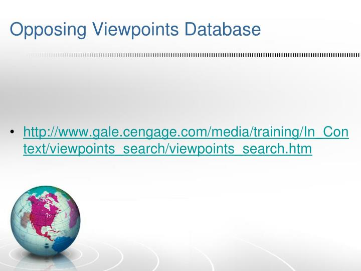 Opposing Viewpoints Database