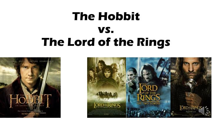 the hobbit vs the lord of the rings n.