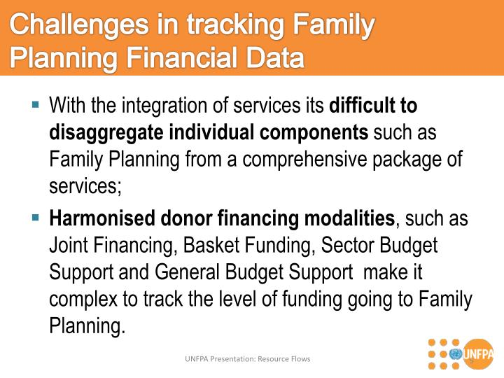 Challenges in tracking Family Planning Financial Data