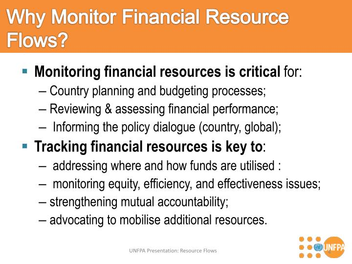 Why Monitor Financial Resource Flows?