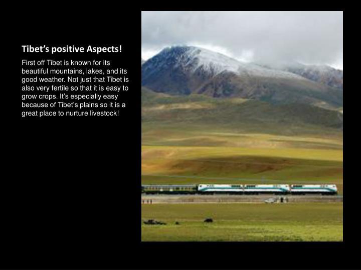 Tibet s positive aspects