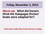 friday november 1 20131