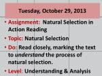 tuesday october 29 2013