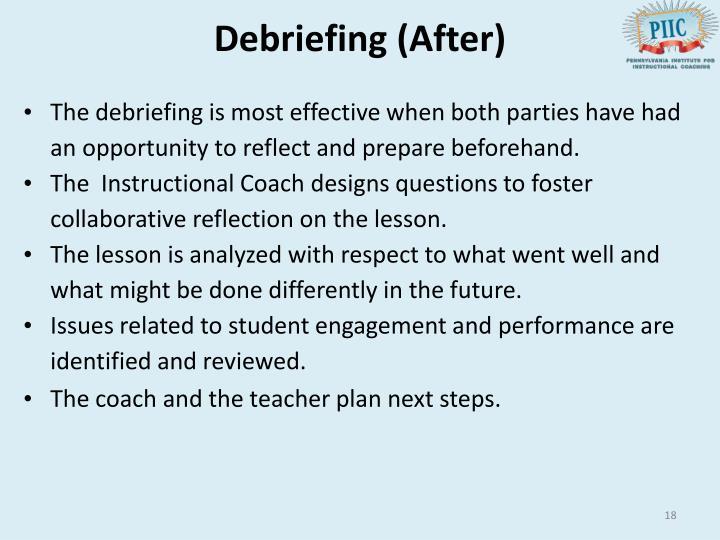 Debriefing (After)