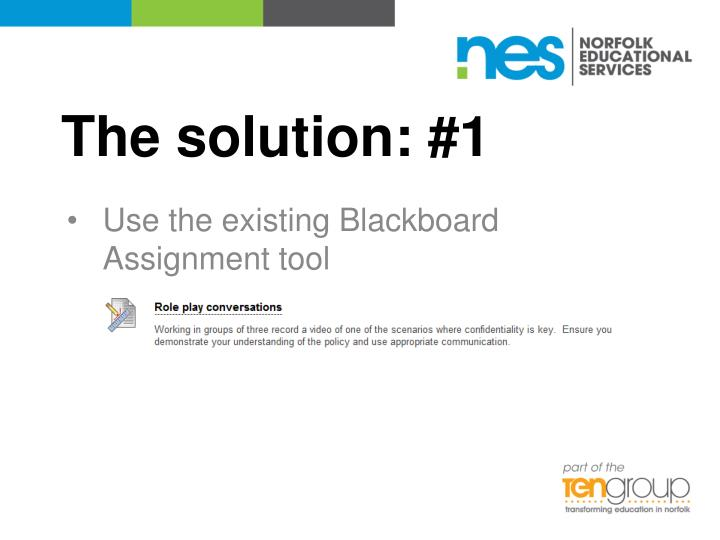 The solution: #1