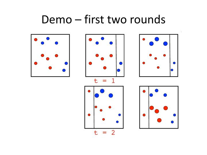 Demo – first two rounds