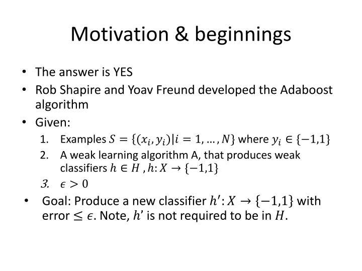 Motivation beginnings1