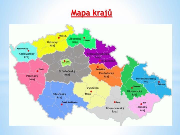 Mapa krajů