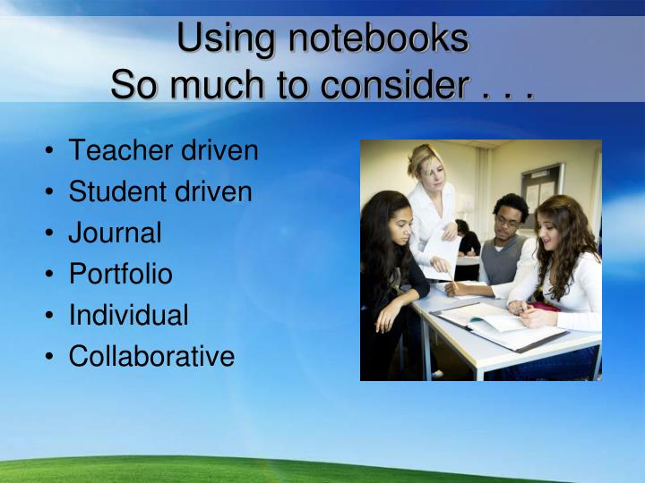 Using notebooks