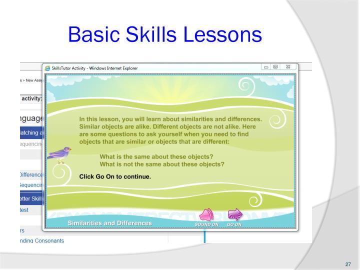 Basic Skills Lessons