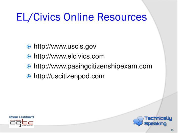 EL/Civics Online Resources