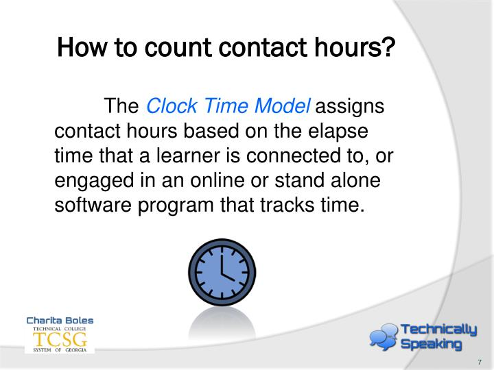 How to count contact hours?