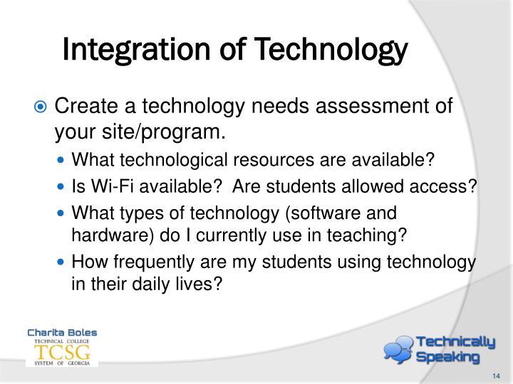 Integration of Technology