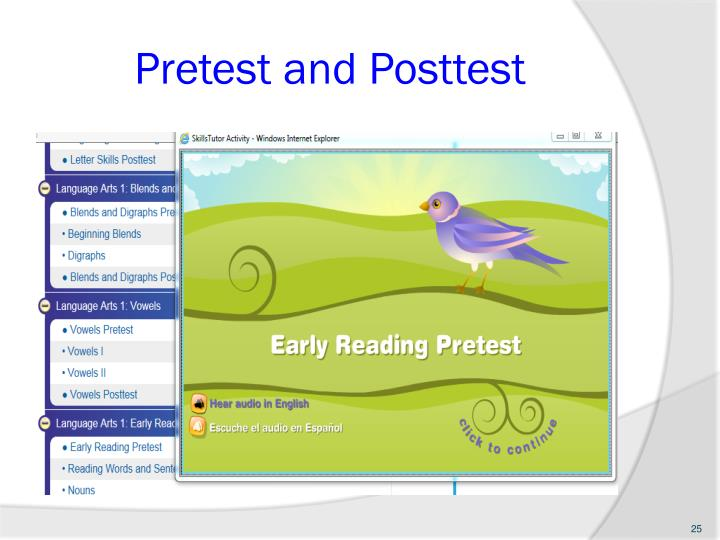 Pretest and Posttest