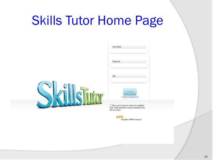 Skills Tutor Home Page