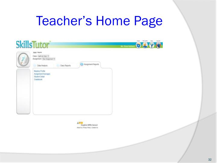Teacher's Home Page
