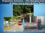 projections summary the changing face of water use in the c w ri ver basin