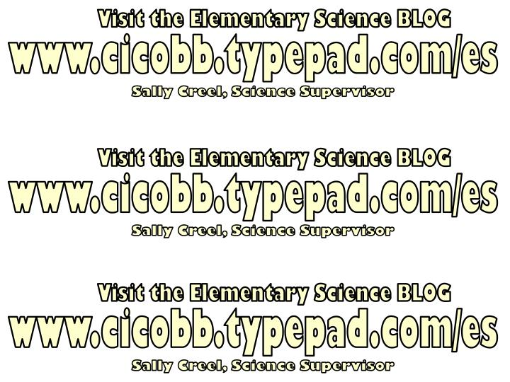 Visit the Elementary Science BLOG