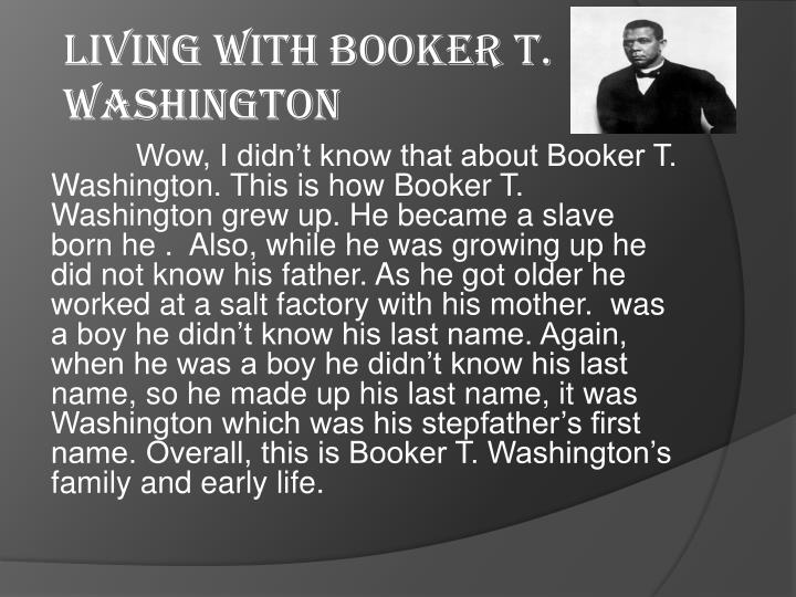 Living with booker t washington