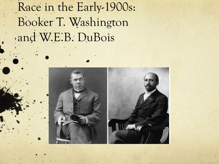 w e b du bois and booker t washington essay His most persistent critic was w e b du bois, the massachusetts-born sociologist who graduated from fisk university and earned a phd from harvard university his critique of washington first appeared in the dial , the souls of black folk (1903) and elsewhere.