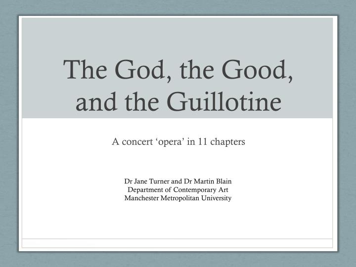 the god the good and the guillotine n.