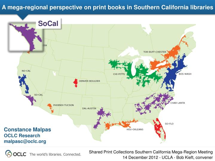 a mega regional perspective on print books in southern california libraries