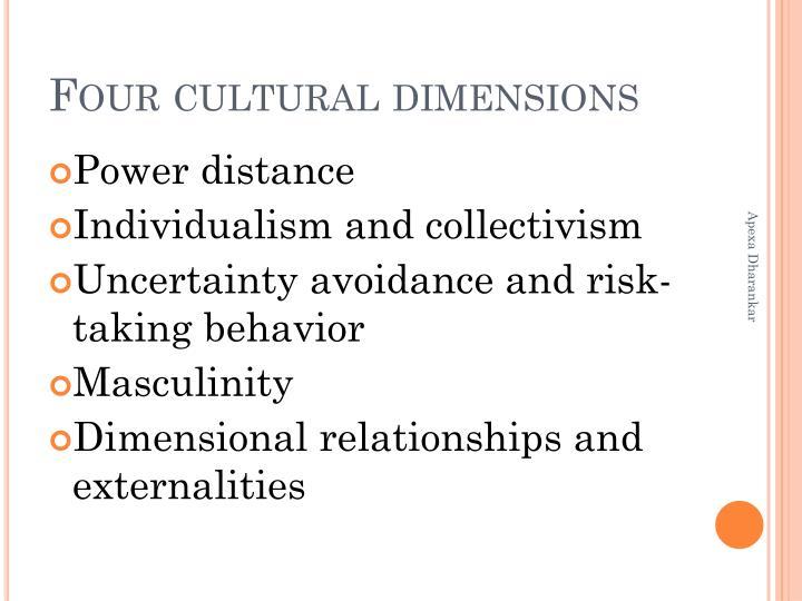 Four cultural dimensions