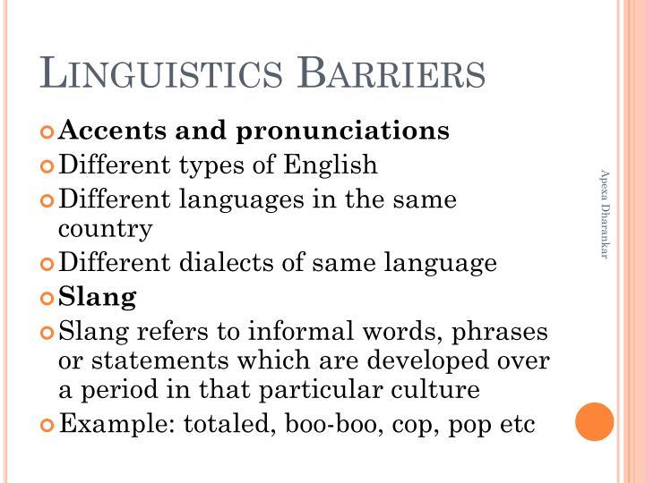 Linguistics Barriers