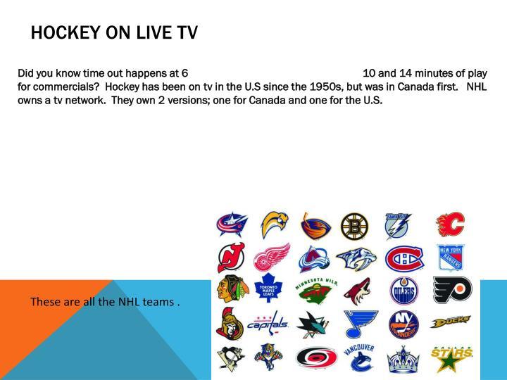 Hockey on Live TV