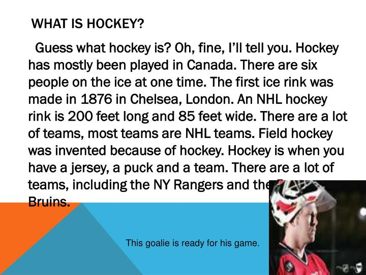 What is hockey