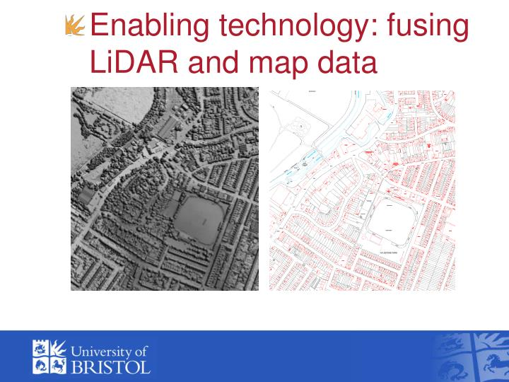 Enabling technology: fusing LiDAR and map data