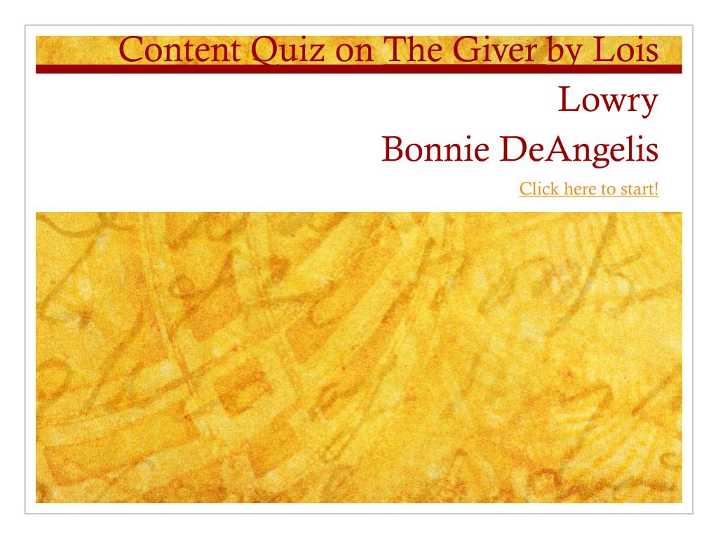 the giver quiz