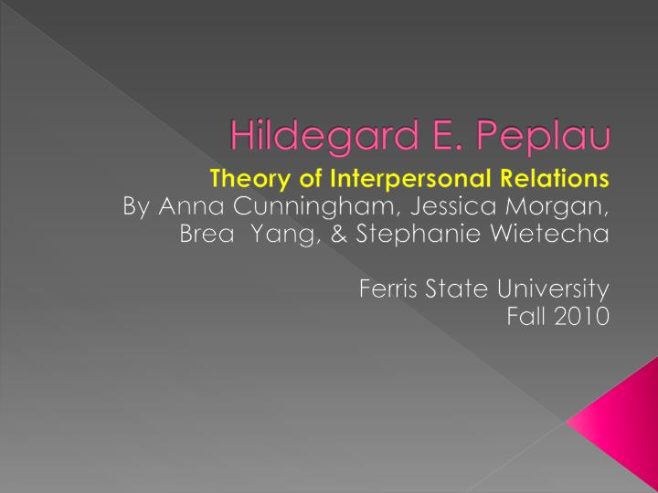 the concept of healing and healthcare according to hildegard peplaus theory of interpersonal relatio