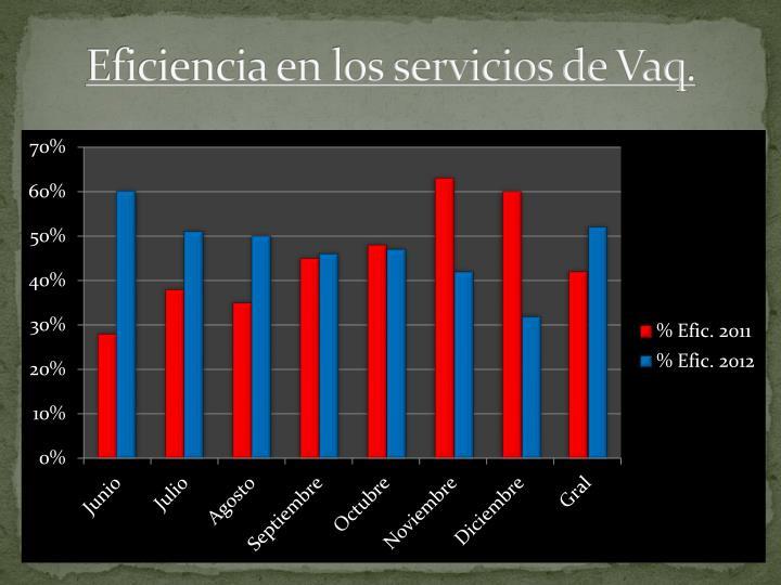 Eficiencia en los servicios de