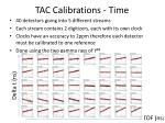 tac calibrations time