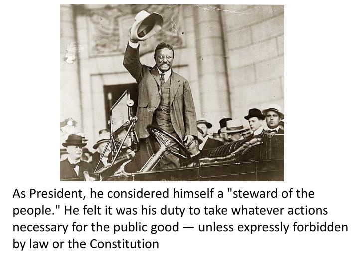teddy roosevelt accomplishments as president