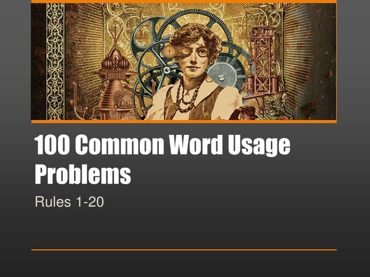 100 common word usage problems n.
