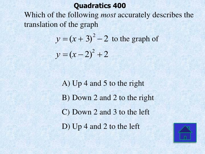 Quadratics 400