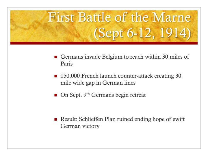 First battle of the marne sept 6 12 1914