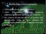 mol culas interestelares