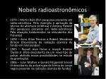 n obels radioastron micos