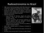 radioastronomia no brasil