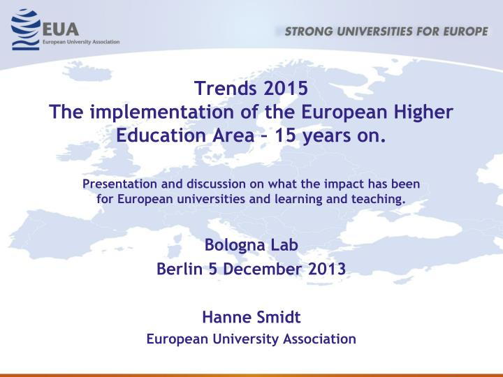 trends 2015 the implementation of the european higher education area 15 years on n.